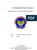 Laporan Praktikum Fisika Dasar II - RESONANSI GELOMBANG BUNYI