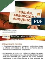 Fusión, absorción y adquisición