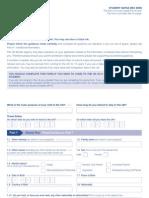 UK student visa form