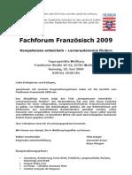 Fach Forum Franzoesisch 2009 Programm