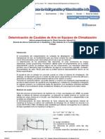 Determinación de Caudales de Aire en Equipos de Climatización