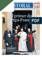 El primer día del Papa Francisco - Diario El Litoral
