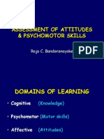 5. Assessment of Psychomotor, Perceptual and Attitudinal Skills, Including Checklists and Rating Scales