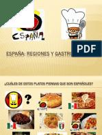 Actividad ELE Geografía y gastronomía españolas