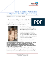 Economics of Adding AutomationThe Economics of Adding Automation and Speed to Microbiological Testing
