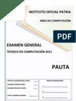 Examen General Computacion 2011 - Pauta
