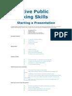 Effective Public Speaking Skills (2)