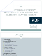 3d Signature for Efficient Authentication in Multimodel Biometric