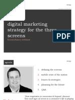 Digital Marketing Strategy for the Three Screens