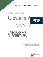 0844685 BA5F4 Scrivere Con Giovanni Verga Novelle Laboratorio Di Scrittura
