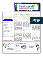 Finishing Talk Newsletter - March 2009