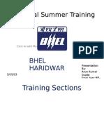 BHEL Haridwar Summer Training