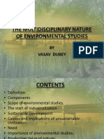 The Multidisciplinary Nature of Environmental Studies