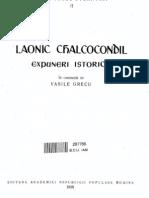 Laonic Chalcocondil - Expuneri Istorice (1958)