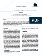 1996 Fabrication and Characterization of Silver-based Solid-state Primary Batteries