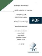 Analisis estructural de la organización
