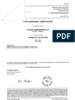 2012 BV Type Approval Certificate Hydraulic Actuators