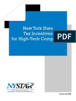 NYSTAR Guide to NYS High Tech Tax Incentives
