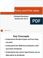 Session 08-09 - Dividend Policy & Firm Value