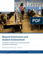 Mayoral Governance and Student Achievement