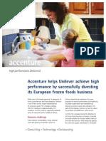 Accenture Unilever European Food Business