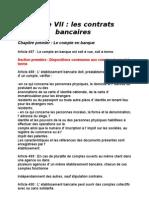 Les Contrarts Bancaires Au Maroc