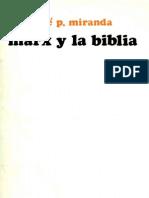 Marx y La Biblia - Miranda