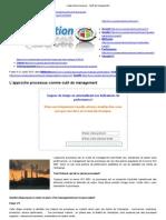 L'Approche Processus - l'Outil de Management