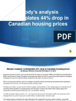 Moody's analysis contemplates 44% drop in Canadian housing prices