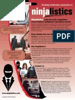 """Work at Ninjalistics"" job flyer"