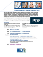 MA Seminar- The New Health Insurance Marketplace- Its time to plan for 2014