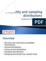 Probability and SamplingDistributions