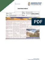 Informe de prensa semana del 08 al 15 de marzo de 2013