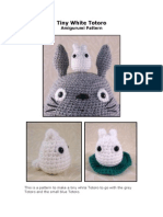 Totoro - Tiny White Totoro Amigurumi Pattern