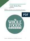 Whole Foods Media Plan