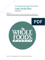 Whole Foods Media Plan