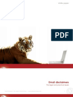 Email Disclaimers White Paper