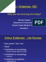 Arthur I Eidelman, MD