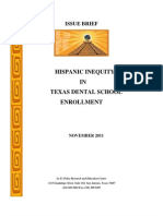 Hispanic Inequity in Texas Dental School Enrollment