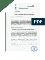 UDPS Press Release 13 Mars 2013 concerning the return of  Mr. Tshisekedi to Kinshasa