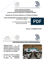 Informe Feria Profesiografica