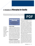 A History of Managing for Quality Juran