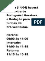 Aula Portugues