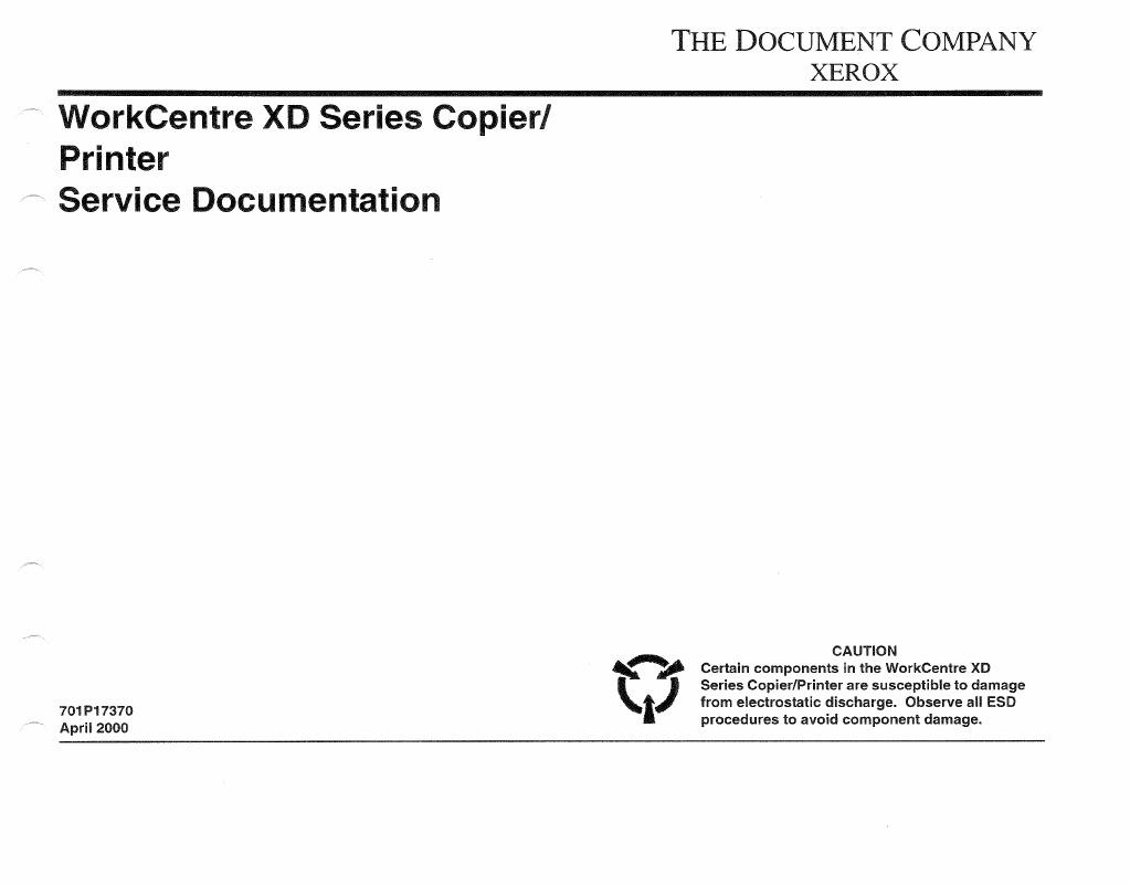 Xerox Printer-Copier WorkCentre XD Series Parts & Service | Relay |  Photocopier