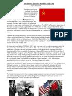 The Union of Soviet Socialist Republics (U.S.S.R)