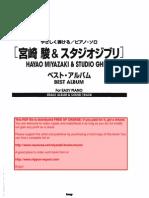 34895670 Hayao Miyazaki Studio Ghibli Best Album for Easy Piano Joe Hisaishi Sheet Music