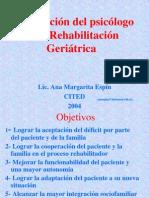 Psicologia Geriatrica y Rehab