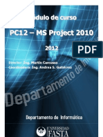 Curso Universidad FASTA - MS Project 2010