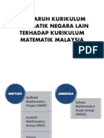 Pengaruh Kurikulum Matematik Negara Lain Terhadap Kurikulum Matematik