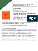 Electrical Properties of Low Temperature Sintered Piezo Ceramics